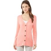 JW Button Front Waffle Cardigan