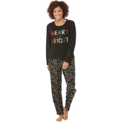 Sleep Zenista High Low Applique Top and Leggings 2 pc. Set