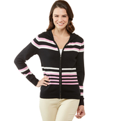 JW Striped Zip Up Hoodie Sweater