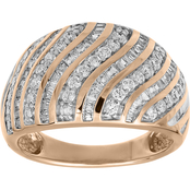 10K Rose Gold 1 CTW Diamond Fashion Ring Size 7
