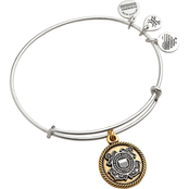 Alex and Ani Two Tone Military Branch Expandable Wrap Bangle Bracelet