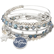 Alex and Ani Words Are Powerful Believe Set of 5 Bracelets