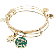 Alex and Ani Words Are Powerful Making Spirits Bright 2 pc. Bracelet Set