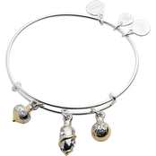 Alex and Ani Charity By Design Trio Ornaments Bangle Two Tone