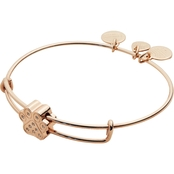 Alex and Ani Pave Paw Print Symbol Bead Bangle