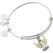 Alex and Ani Charity By Design Angel Bangle Two Tone