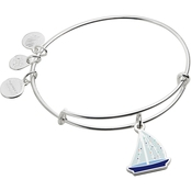 Alex and Ani Color Infusion Holiday Sailboat Bangle