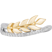 Disney Enchanted 14K Yellow Gold Over Silver 1/10 CTW Diamond Anna Ring Size 7