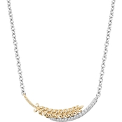 Disney Enchanted 14K Yellow Gold Over Silver 1/10 CTW Diamond Anna Necklace
