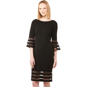 Calvin Klein Sheath Dress with Illusion Insets