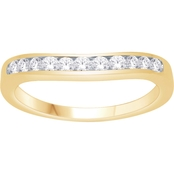 Love Honor Cherish 10K Yellow Gold 1/2 CTW Diamond Curve Anniversary Band