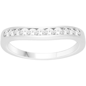 Love Honor Cherish 10K White Gold 1/2 CTW Diamond Curve Anniversary Band
