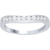 Love Honor Cherish 10K White Gold 1/10 CTW Diamond Anniversary Band