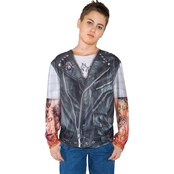 Underwraps Costumes Child Biker Shirt Costume 6-8