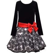 Bonnie Jean Toddler Girls Flocked Hipster Skirt