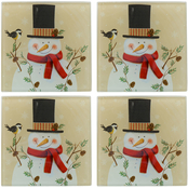 Pfaltzgraff Holiday Snowy Silhouette Coasters 4 pc. Set