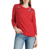 Lucky Brand Embroidered Bouquet Tee