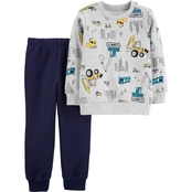 Carter's 2 pc. Construction Fleece Top and Jogger Set