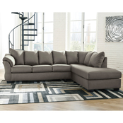 Signature Design by Ashley Darcy Sectional with LAF Sofa and RAF Corner Chaise