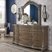 Signature Design by Ashley Charmond 9 Drawer Dresser and Mirror Set