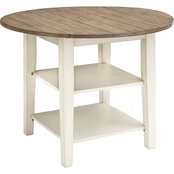 Signature Design by Ashley Bardilyn Round Drop Leaf Dining Table