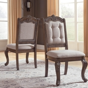 Signature Design by Ashley Charmond Dining Side Chair 2 pk.