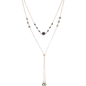 Panacea Navy Compressed Drusy Y Necklace
