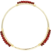 Panacea Red Crystal Bangle Bracelet