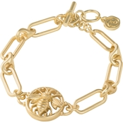 Spartina 449 Goldtone Bee Toggle Bracelet