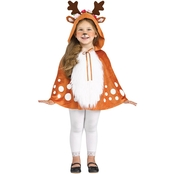 Fun World Child Deer Hooded Cape Costume, 4-6X