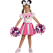 Fun World Toddler Girls Minnie Mouse Cheerleader Costume, Medium 3T-4T