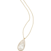 Spartina 449 Goldtone Teardrop Crushed Mother-of-Pearl Necklace
