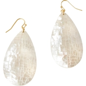 Spartina 449 Goldtone Teardrop Crushed Mother-of-Pearl Earrings