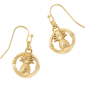 Spartina 449 Goldtone Pineapple Drop Earrings