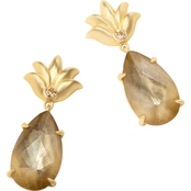 Spartina 449 Goldtone Pineapple Dewdrop Earrings