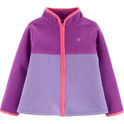 OshKosh B'gosh Toddler Girls Colorblock Microfleece Top