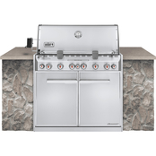 Weber Summit S660 Grill Stainless Steel Natural Gas Built In