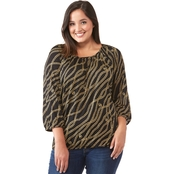 Michael Kors Plus Size Layered Chain Peasant Top
