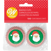 Wilton Christmas Santa Claus Mini Baking Cups 100 ct.