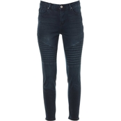 Almost Famous Juniors High Rise Moto Skinny Jeans