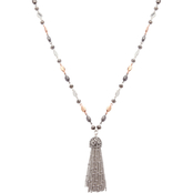 Nine West Tritone Bead 36 in. Tassel Necklace