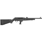 Ruger PC Carbine 40 S&W 16 in. Threaded Fluted Barrel 15 Rds Rifle Black