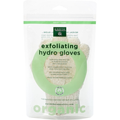 Earth Therapeutics Organic Cotton Exfoliating Hydro Gloves