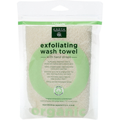 Earth Therapeutics Organic Cotton Exfoliating Wash Towel with Straps