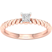 14K Gold 1/5 ct. Diamond Princess Solitaire Ring