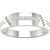 10K 1/10 CTW Men's Diamond Ring