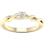 14K Gold 1/5 ct. Diamond Round Solitaire Ring