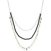 Panacea Black Crystal Pre Layered Necklace