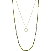 Panacea Pre Layered Crystal Necklace with Sun Charm