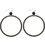 Panacea Crystal Beaded Hoop Earrings
